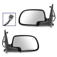02 Avalanche Pwr Htd Folding Blk Mirror Pair