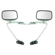 1980-96 Ford Pickup Bronco Mirror Manual Swing Lock Chrome Pair