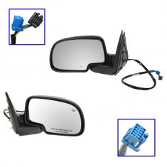03-06 Chevy Tahoe Pwr Htd w/Text Cap Mirror Pair