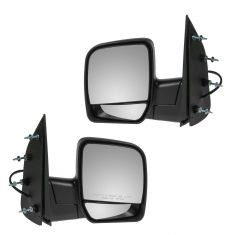 02-07 Ford Van Dual Glass w/o Pud Lt Pwr Mirror Pair