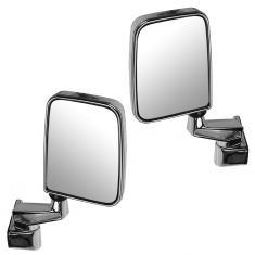 1987-02 Jeep Wrangler Mirror Manual Chrome Pair