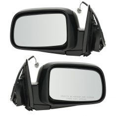 02-06 Honda CR-V Power Mirror Smooth Black Head PAIR