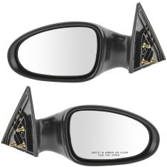 02-06 Nissan Altima Mirror Manual Black PAIR