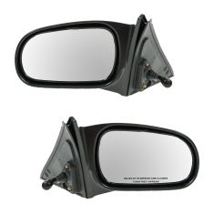 96-00 Honda Civic Sedan Manual Remote Mirror PAIR