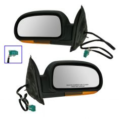 Mirror POWER FOLDING HEATED with AMBER TURN SIGNAL & TEXTURED FINISH PAIR
