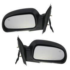 2004-07 GM Mid Size SUV Pwr Htd Smooth Fin Mirror Man Fold w/Clear Turn Sig Cvr PAIR