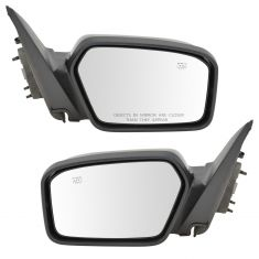 06-08 Ford Mercury Fusion Milan Mirror Power Heated Textured Cover Pair