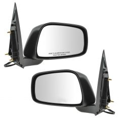 05-08 Nissan Frontier Mirror Power Heated Folding Textured (Except Reg Cab) Pair