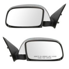 89-95 Toyota PU Manual Mirror Chr Pair