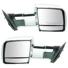 07-16 Toyota Tundra Pwr Htd Tinted LED TS Chrome Tow Mirror PAIR