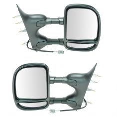 09-14 E150, E250; 09-16 E350, E450 Power Dual Arm Tow Mirror PAIR