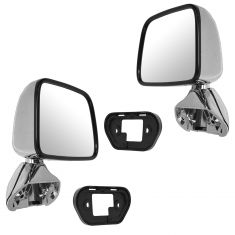 87-88 Toyota Pickup Chrome Manual Mirror PAIR
