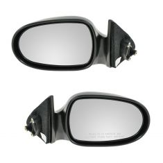1995-99 Nissan Sentra 200SX Black Manual Mirror PAIR