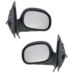 98-02 Expedition Pickup Power Mirror Flat Black Cap PAIR