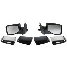 06-10 Ford Explorer; 07-10 Sport Trac Pwr Htd Puddle Light Mirror (Chrme & PTM Caps) PAIR