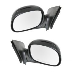 97-01 F150 Manual Mirror w/Gloss Black Cap PAIR