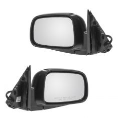 02-06 Honda CR-V Power Mirror Textured Black Head PAIR