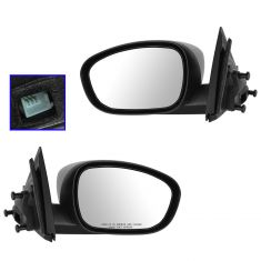 06-10 Dodge Charger Power Textured Fixed Mirror PAIR