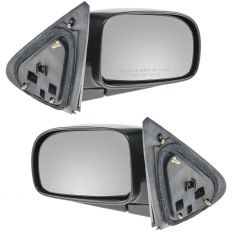 07-10 Hyundai Sante Fe Black w/Smooth Black Cover Power Heated Mirror PAIR