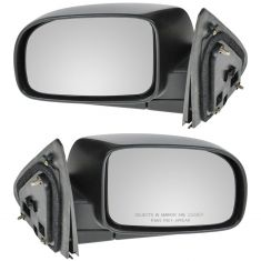 07-10 Hyundai Sante Fe Black Textured Power Heated Mirror PAIR