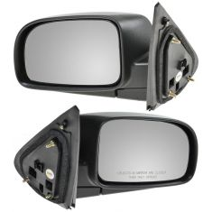 07-09 Hyundai Sante Fe Black Textured Power Mirror PAIR