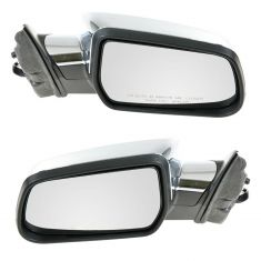 10-11 Chevy Equinox, GMC Terrain Power Heated w/Memory Black w/Chrome Cap Mirror PAIR