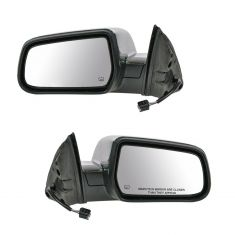 10-11 Chevy Equinox, GMC Terrain Power Heated Chrome Cap Mirror Pair