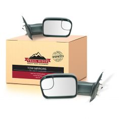 02-08 Dodge Ram 1500; 03-09 2500 3500 Pwr Htd TS Textured Tow (Upgrade 2010 Look) Mirror PAIR (TR)
