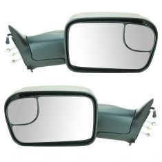 94-01 Dodge Ram 1500; 94-02 2500 3500 Manual TS Textured Tow (Perf Upgrade 2010 Look) Mirror PAIR