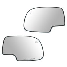 99-07 GM Full Size PU, SUV Power Heated Mirror Glass w/Backing Plate Pair