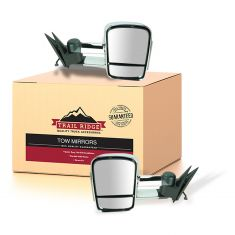 99-02 Sierra. Silverado Power, Heated, w/Clear-Smoked TS Lens Chrome Mirror PAIR (New TR)