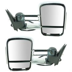 03-07 Sierra. Silverado Power, Heated, Manual Telescoping, w/Clear-Smoked TS Lens Chrome Mirror PAIR