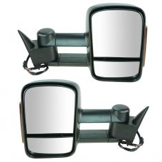88-01 Chevy, GMC C/K PU, SUV Power Heated w/LED Turn Signal Textured Towing Mirror PAIR (Upgrade)