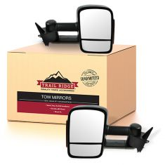 88-01 Chevy, GMC C/K PU, SUV Manual w/LED Turn Signal Textured Towing Mirror PAIR (Upgrade)