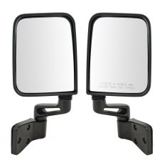 87-95, 97-02 Jeep Wrangler Manual Folding HQ Mirror Pair