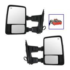 11-12 Ford SD PU Pwr Htd TS CL Chrome & PTM Caps (w/RH Temp Sens) (Upgrade Style) Mirror PAIR