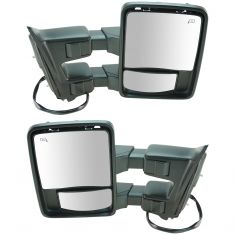 08-10 Ford SD PU Pwr Htd w/Mem Chm & PTM Caps Turn Sig & Clrnce Lite (Upgrade Style) Tow Mirror PAIR