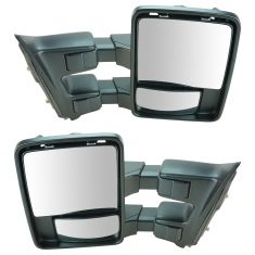 11-12 Ford SD PU Manual w/ Chrome & PTM Caps (w/RH Temp Sens) (Upgrade Style) Mirror PAIR