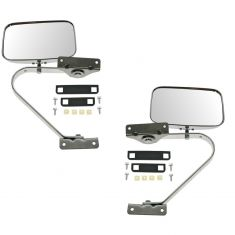 80-96 Ford Bronco, F150-F550 Manual Swing Lock (w/Chrome Plated Plastic Housing) Mirror PAIR