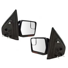 04-13 Ford F150 Power, Dual Heated Glass, Dual LED Turn Signal, Chm & Txt Caps (Upgrade) Mirror PAIR