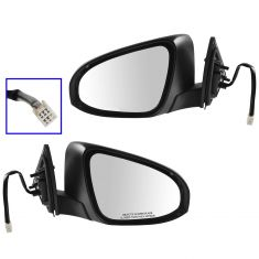 12-13 Toyota Camry SE, XLE, Camry Hybrid XLE (exc Blind Spot Option) Power Mirror PAIR