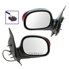 01 (from 1/23/01)-03 F150 Crew Cab Power (w/Exterior Signal) PTM Mirror PAIR