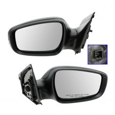 12-13 Hyundai Accent Power, Heated w/Turn Signal PTM Mirror PAIR