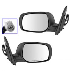 09-12 Toyota Corolla Power Heated Gloss Black Mirror PAIR