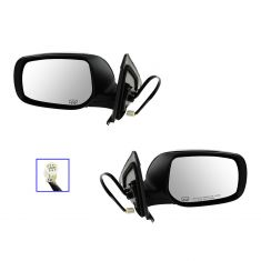 09-12 Toyota Matrix Power Heated Gloss Black Mirror PAIR
