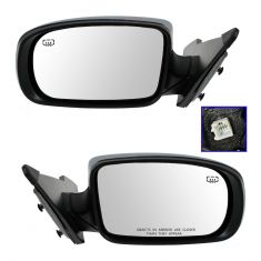 11-13 Chrysler 200 Convertible Power Heated Chrome Mirror PAIR