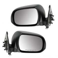 12-13 Toyota Tacoma Manual Black Textured Mirror PAIR