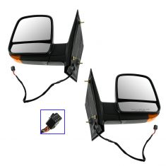 08-12 GM Full Size Van Power Heated w/TS Black Textured Mirror PAIR