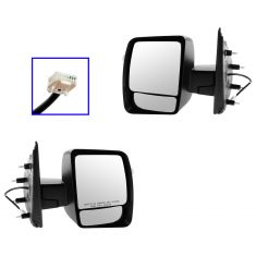 12-13 Nissan NV 1500, 2500, 3500 Power w/Textured Black Cap Mirror PAIR