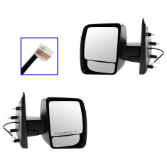 12-13 Nissan NV 1500, 2500, 3500 Power, Heated w/Textured Black Cap Mirror PAIR